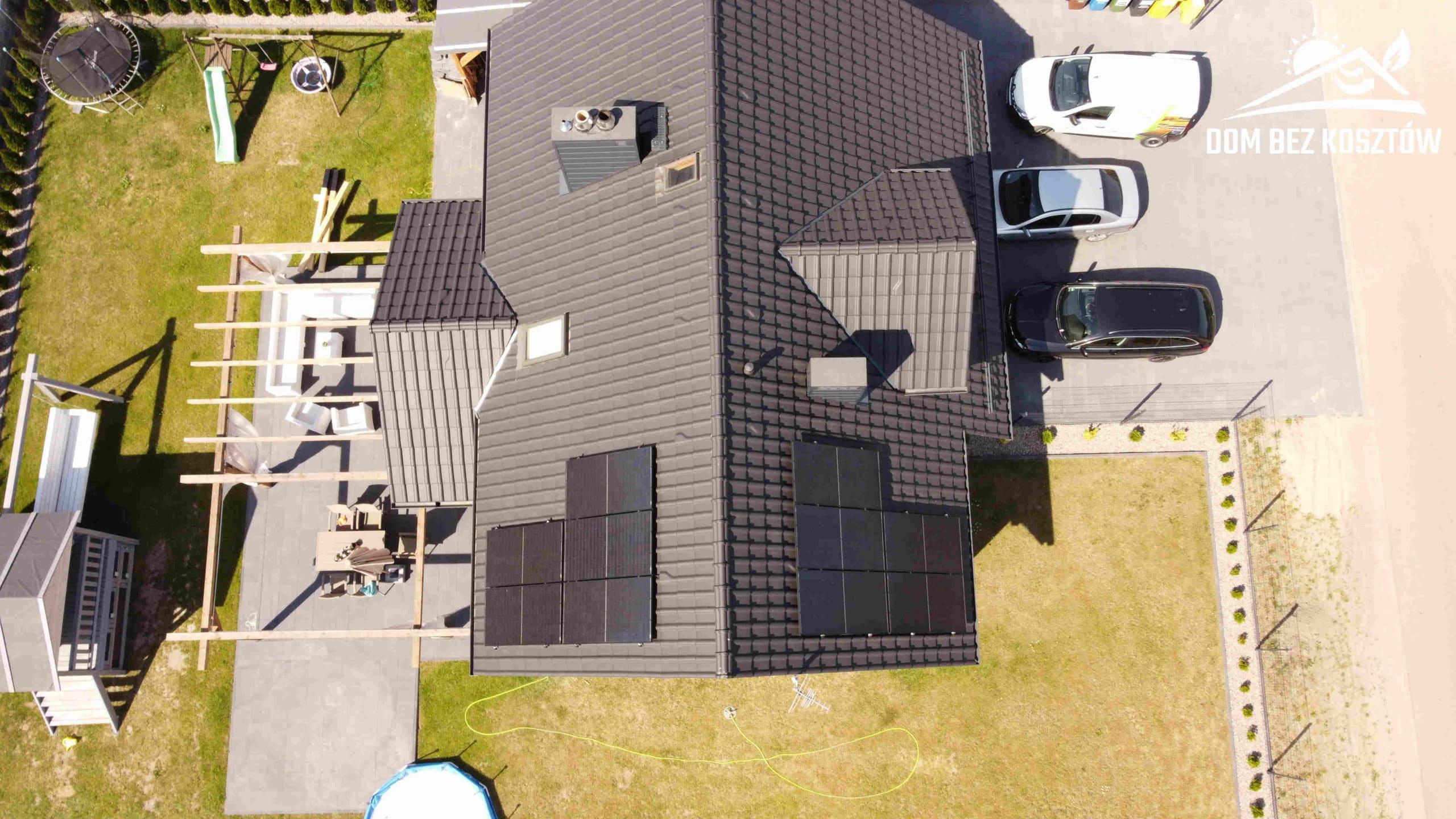 Instalacja fotowoltaiczna na dachu domu jednorodzinnego w Chojnicach