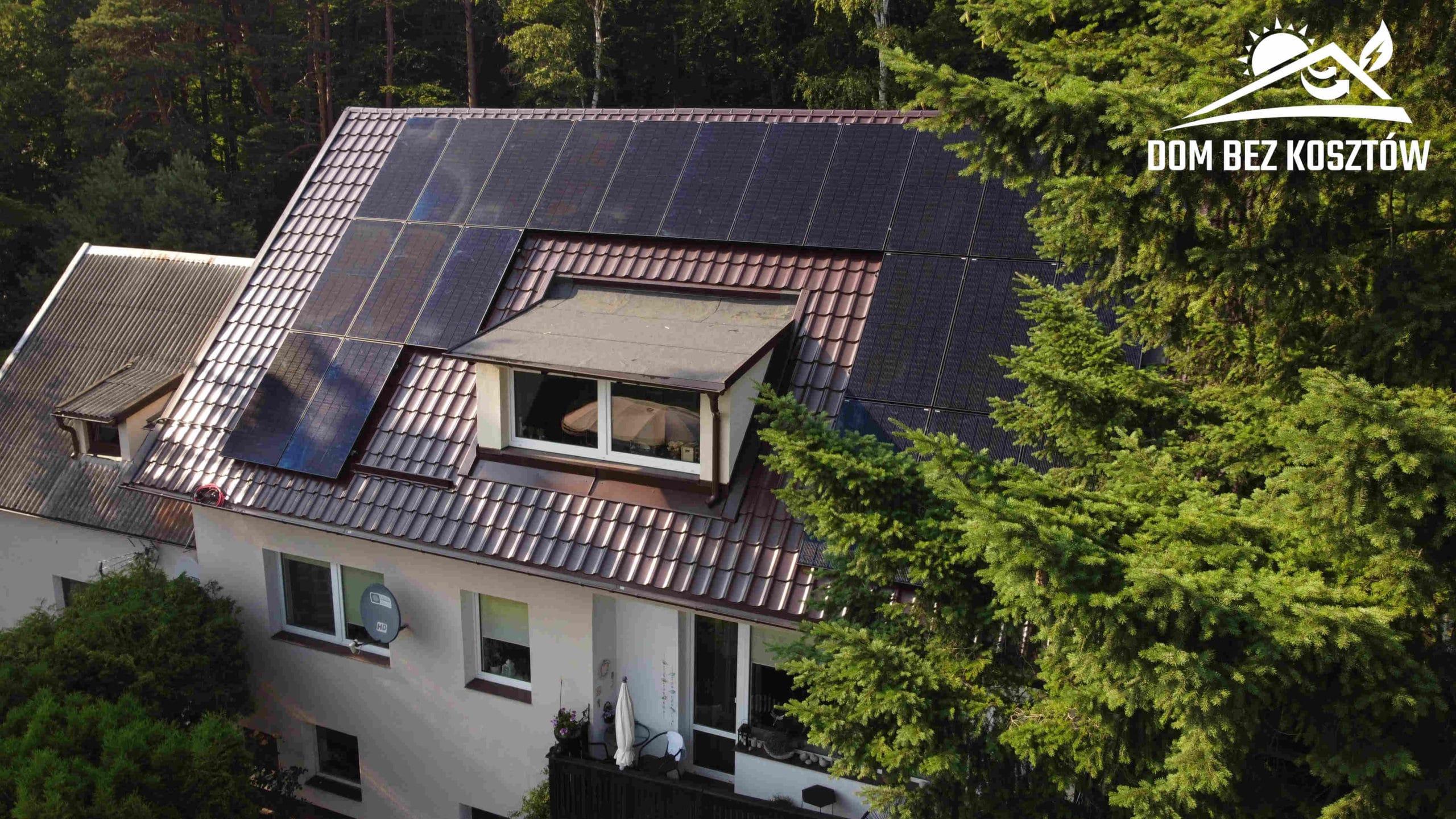 Instalacja Fotowoltaiczna na dachu domu w Jantarze