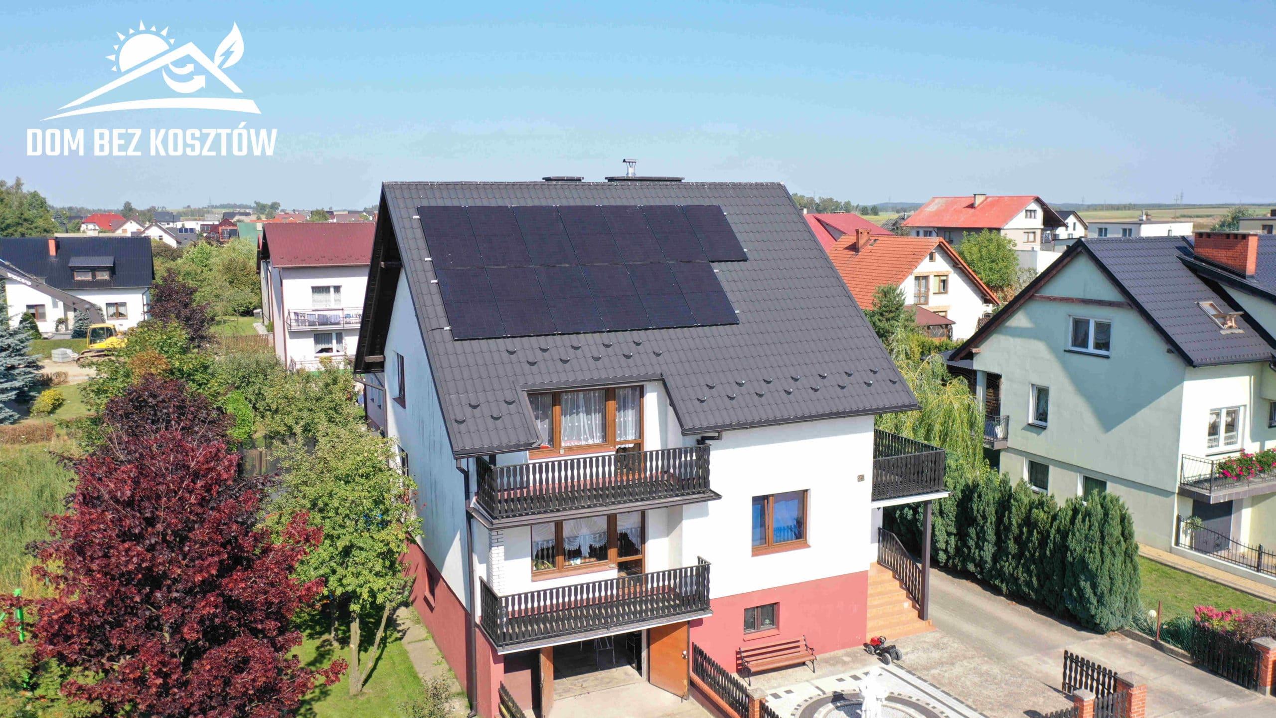 Instalacja fotowoltaiczna o mocy 6,5 kWp na dachu domu jednorodzinnego w Brusach