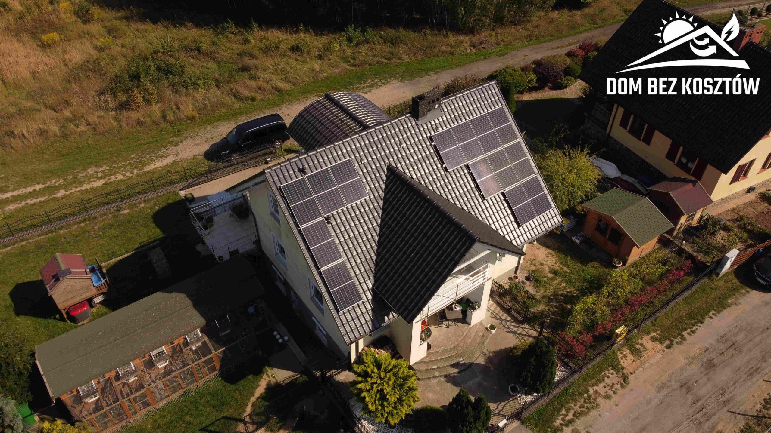 Instalacja fotowoltaiczna o mocy 9 kWp na dachu domu jednorodzinnego w Kamieniu Krajeńskim